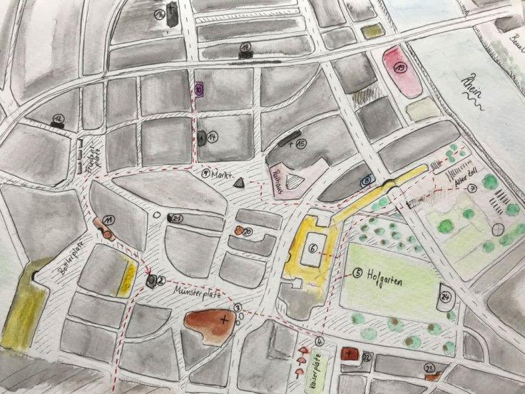 Karte von Bonn, Bild: Christine Siefer